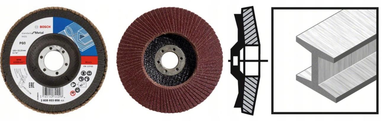 BOSCH Listkowa tarcza szlifierska 125mm P80 10SZT EAN 3165140744072