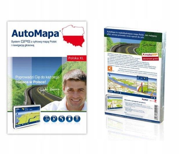 """Nawigacja GPS ALGA A9 + AutoMapa licencja 9"""" Wysokość produktu 135 cm"""