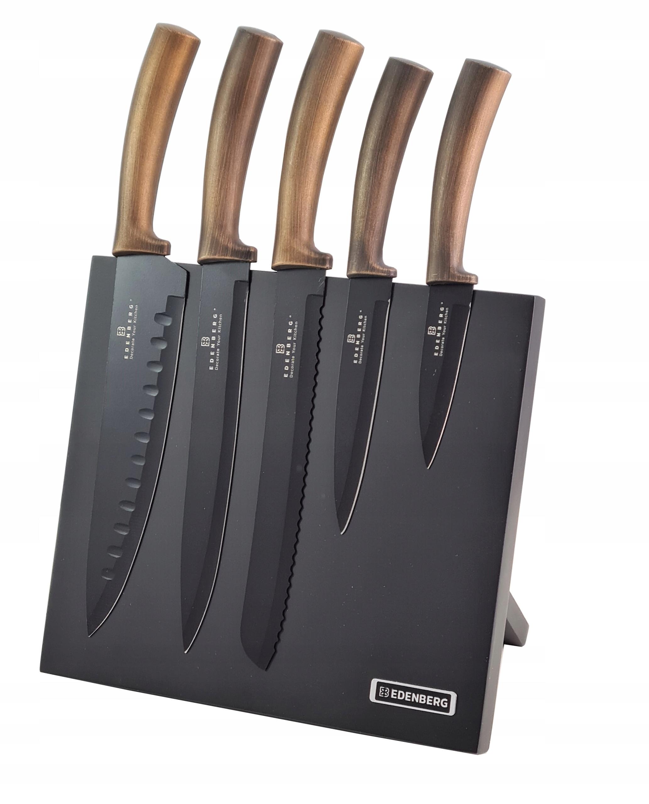 Набор ножей в блоке 6el EDENBERG Gold Knives