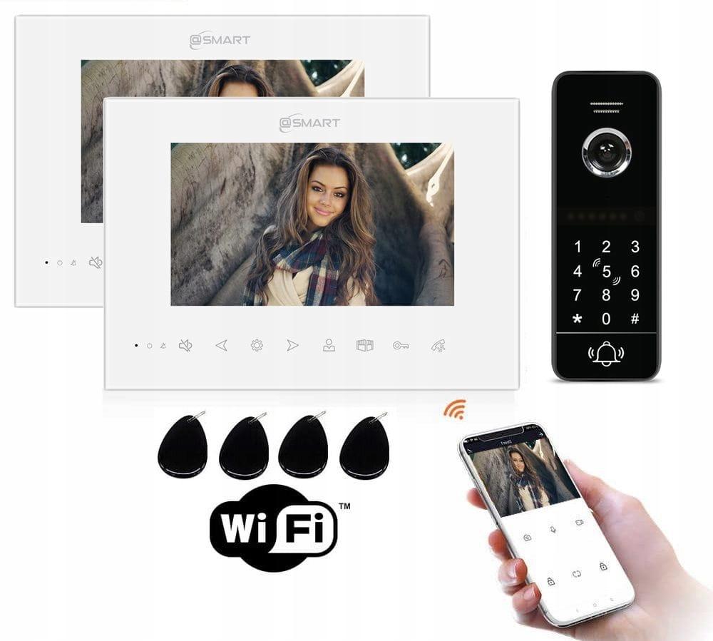 Wideodomofon IP Smart Dwa monitory WIFI BRELOK KOD
