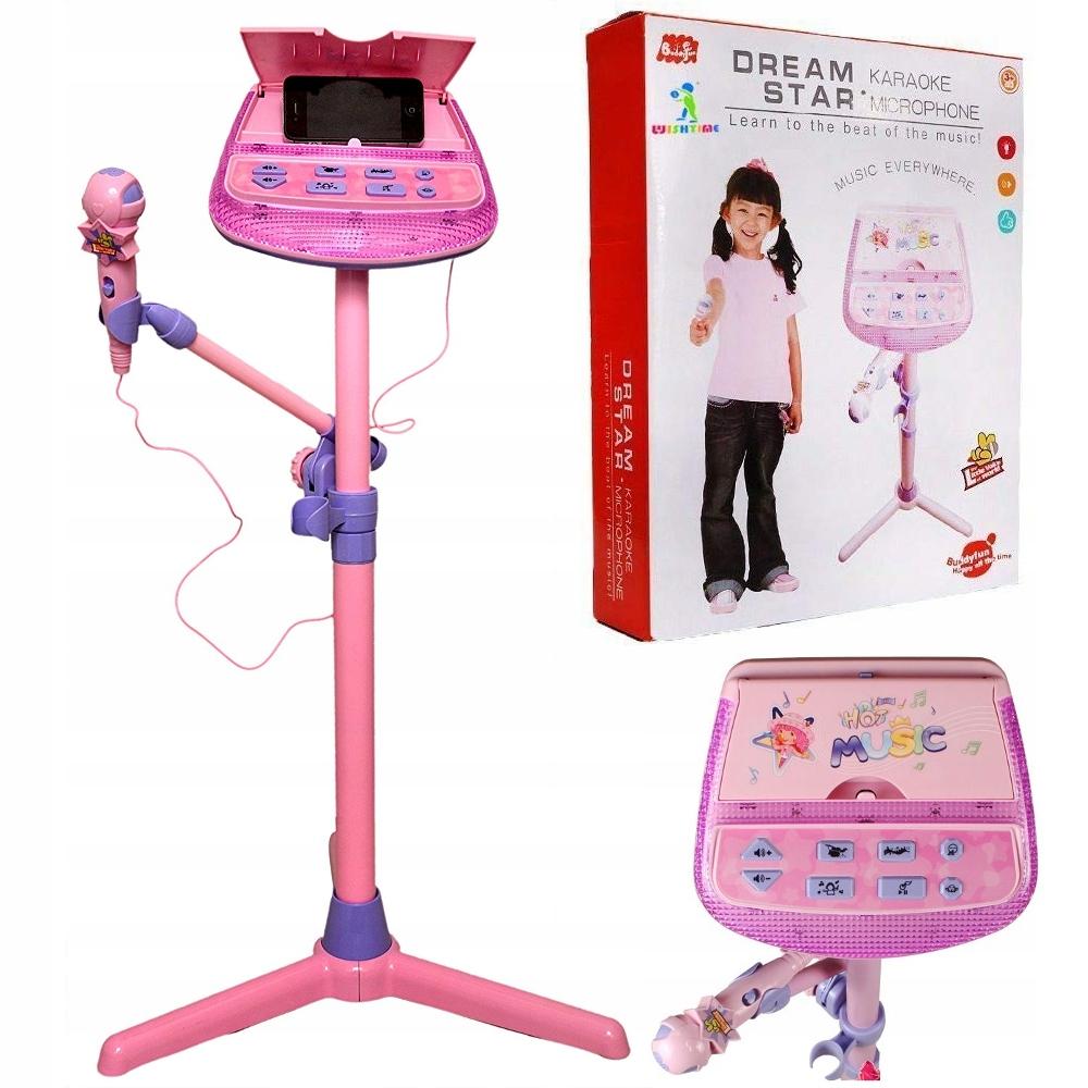 Detský karaoke set statívový mikrofón LED Z119