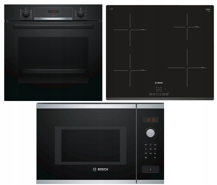 Набор Bosch Духовка + плита + микроволновая печь