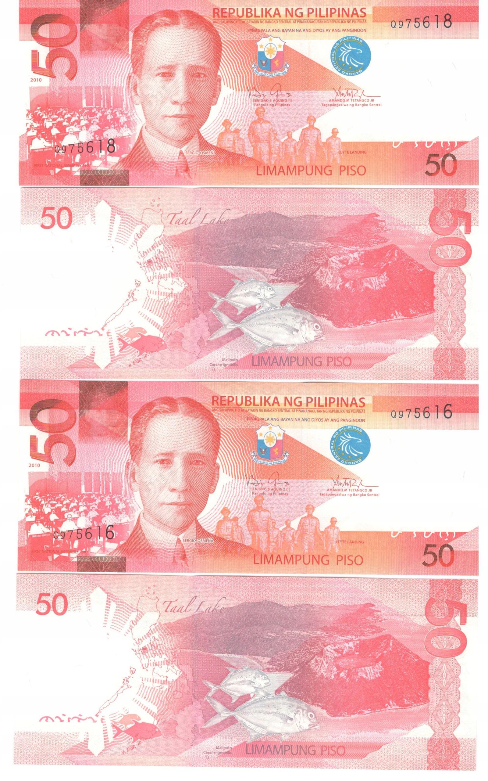 ФИЛИППИНЫ - 50 PESOS 2010 UNC