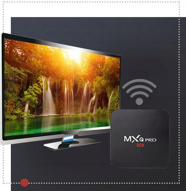 SMART TV BOX MXQ PRO + TV-BOKS WIFI HDMI 1/8 ANDROID Bildeformater DivX DVD-Video VCD