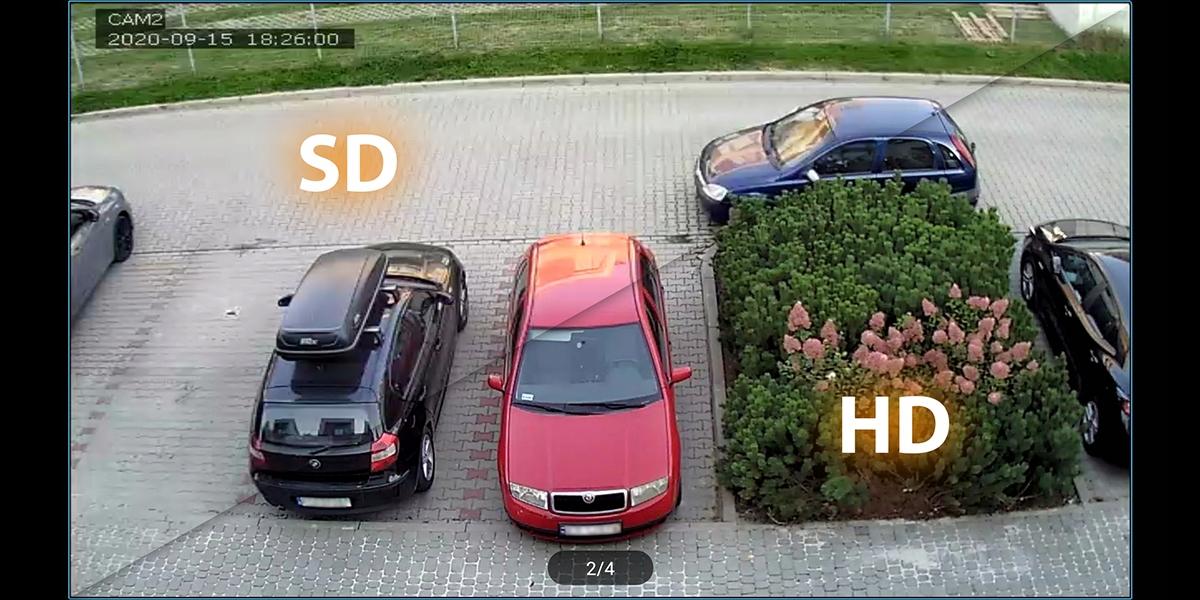 MONITORING WIFI REJESTRATOR 4 KAMERY HD ANDROID Pojemność zainstalowanego dysku 0 TB