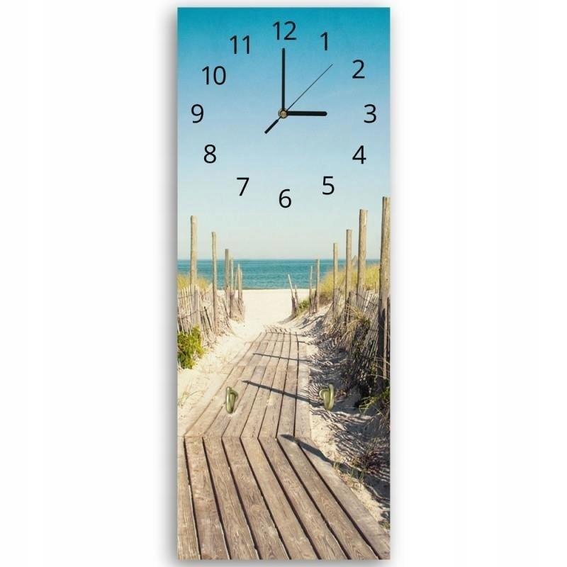 Vešiak dekoratívne hodiny, Cesta na pláž 40x118