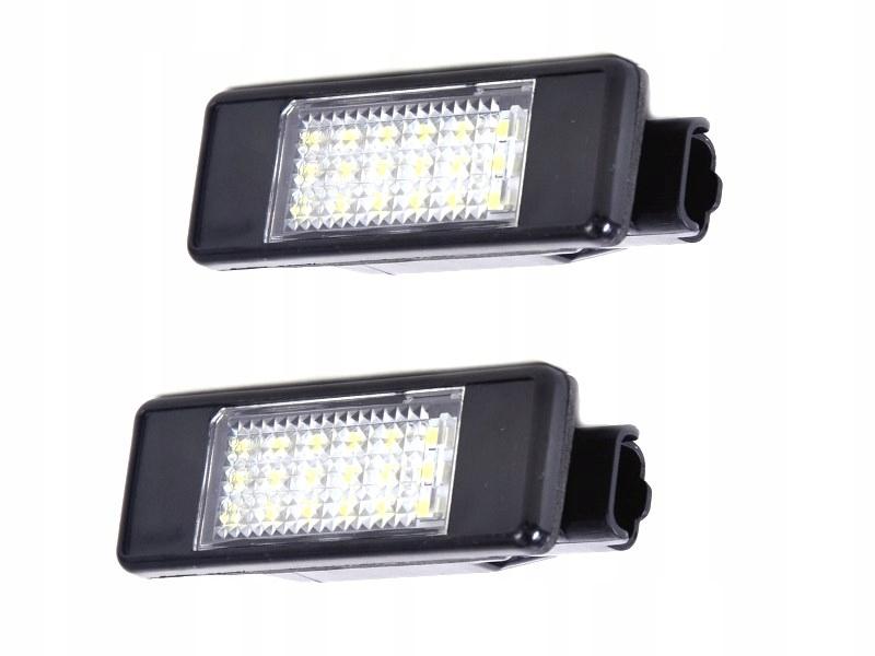 лампы освещение регистрации led citroen c5 c6 c8
