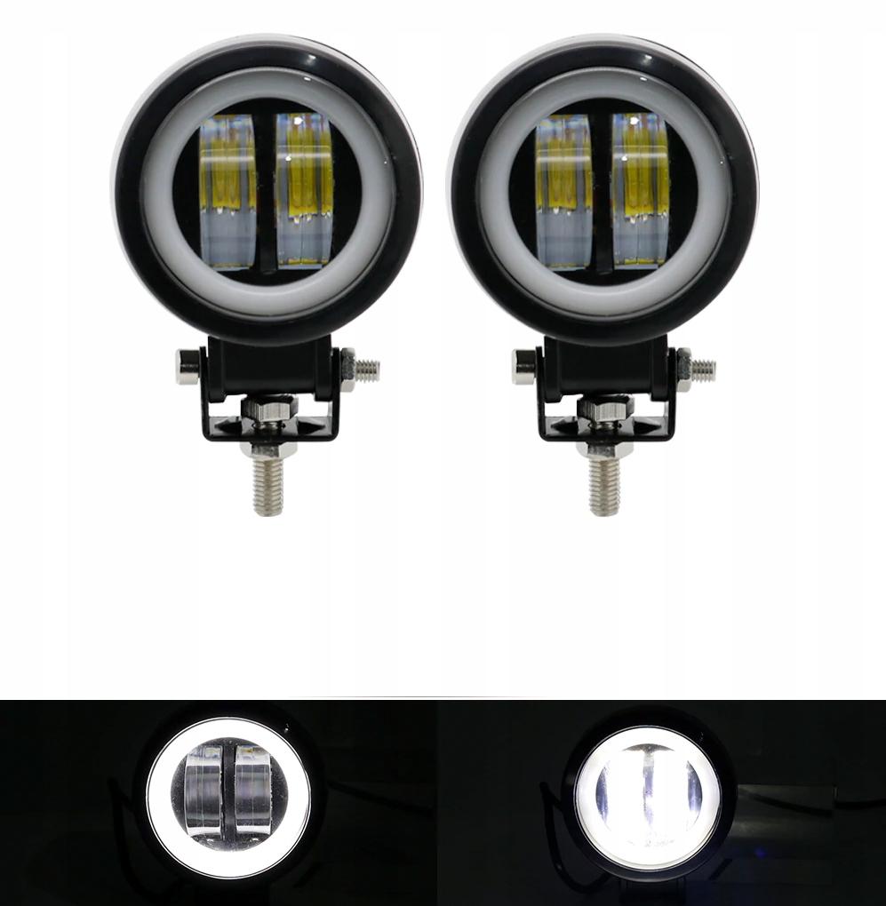 лампа рабочая галоген прожектора led кольцо 12-24v x2