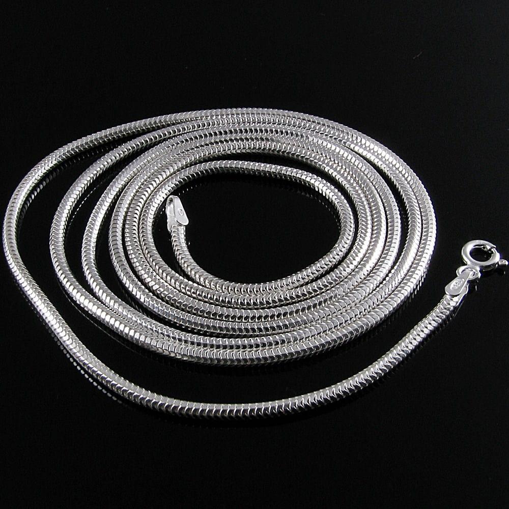Długi gruby łańcuszek srebrny żmijka okrągła 60cm 9461822442 O9tGRJrs