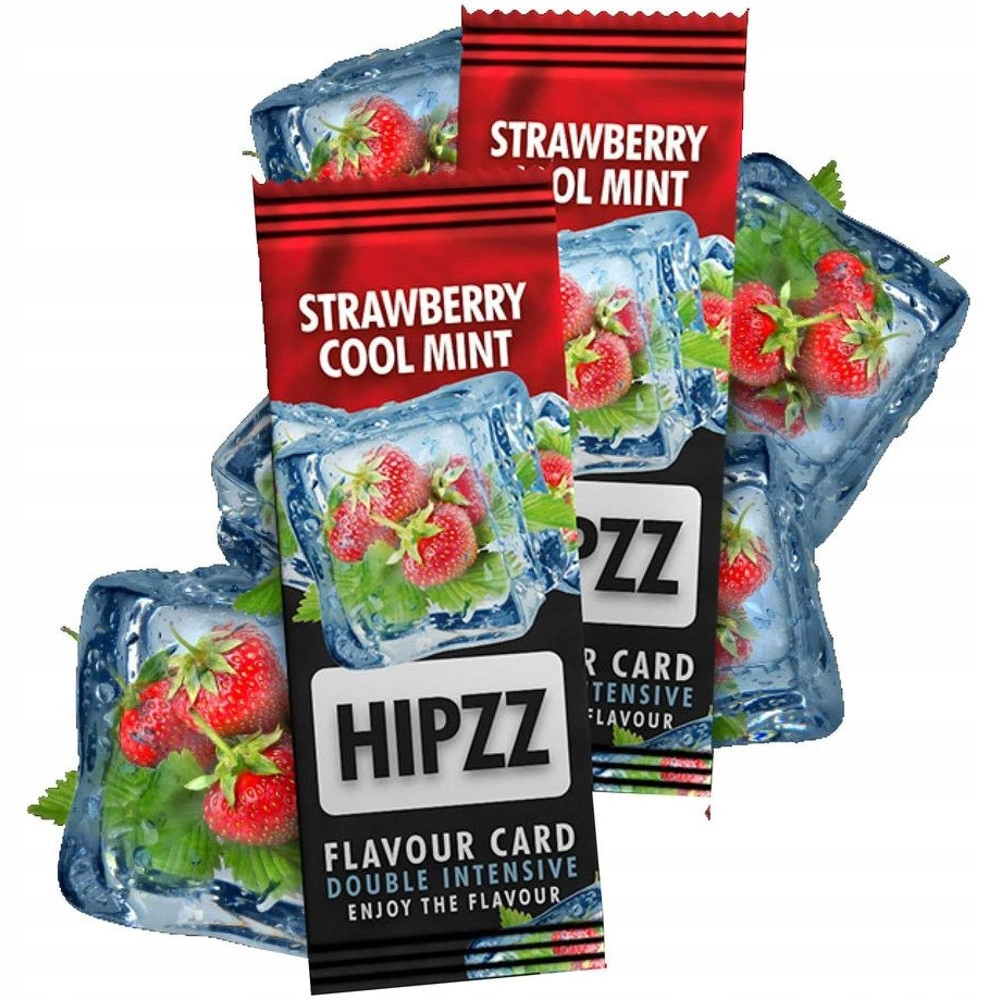 5x ароматная карта HIPZZ Strawberry Cool Mint