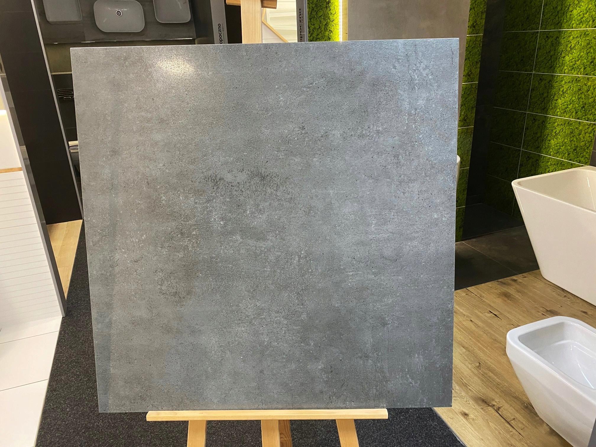 Керамогранит 75х75 антрасит лаппато цемент Люкс