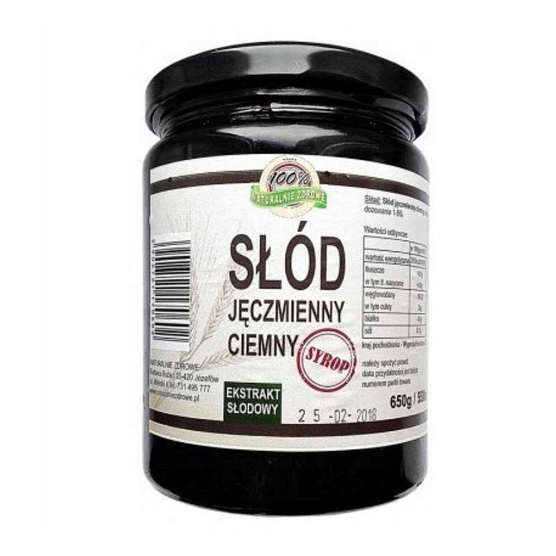Ячменный солод в ТЕМНОМ сиропе 650г / 550мл