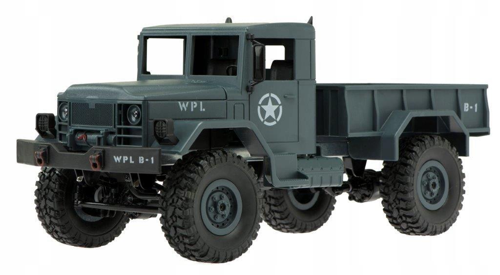 Vojenské vozidlo TRUCK RC CAR WPL B-1 4X4 1:16