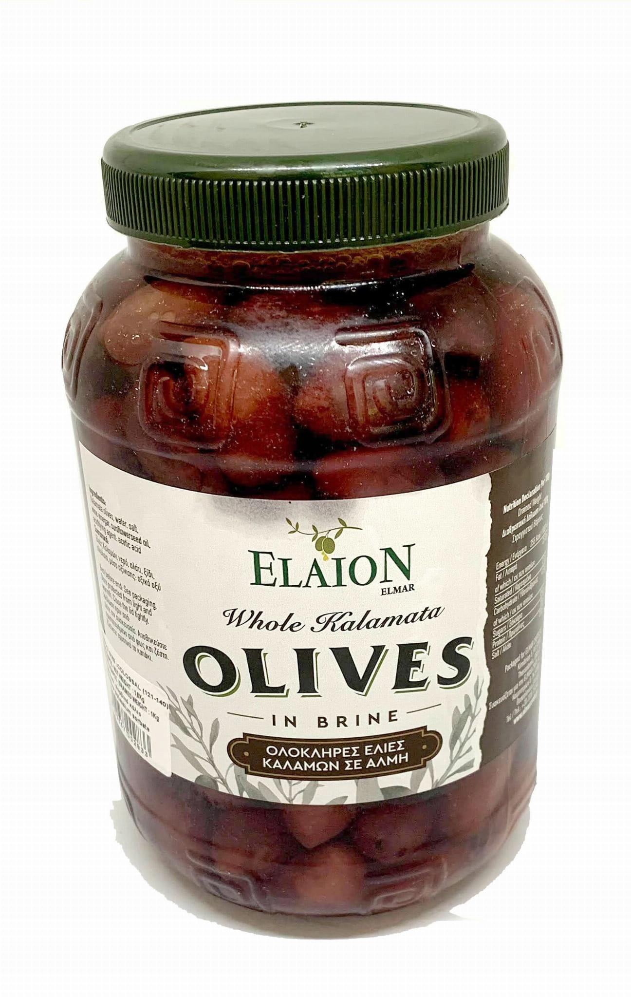 Оливки Каламата с семенами 1 кг (Эльмар)