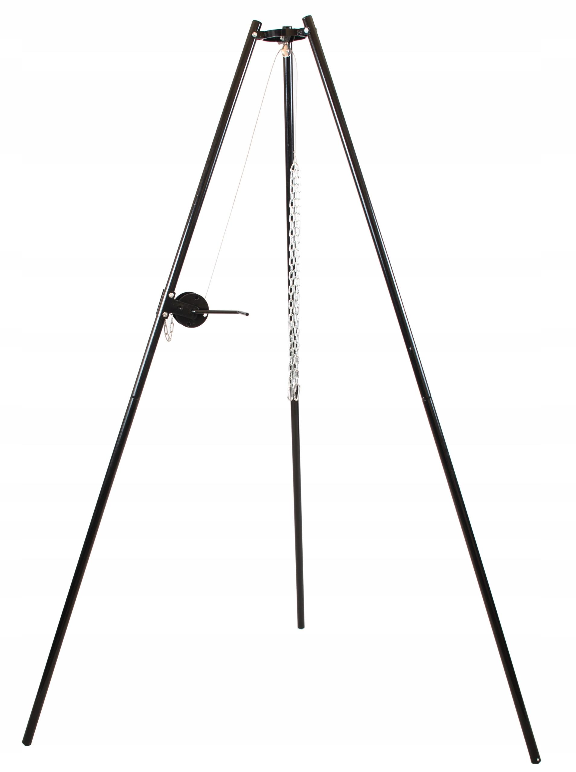 GRILL OGRODOWY PODWIESZANY KORBKA TRÓJNÓG Wysokość 180 cm