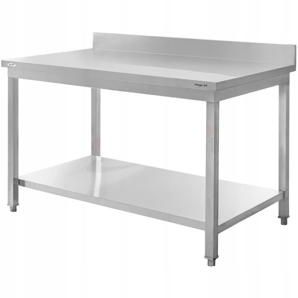 Рабочий стол из нержавеющей стали, 140x60