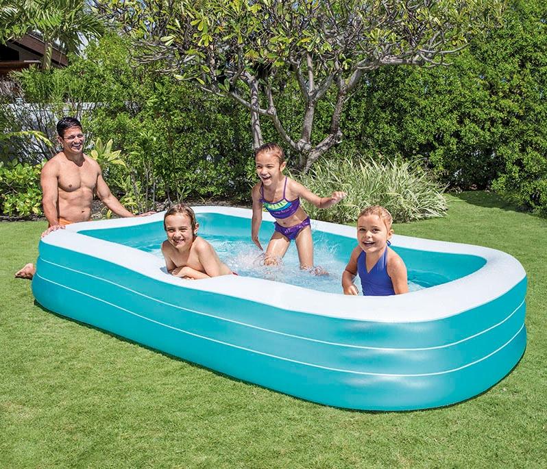 Veľký nafukovací bazén Intex 58484 305x183 obdĺžnikový tvar