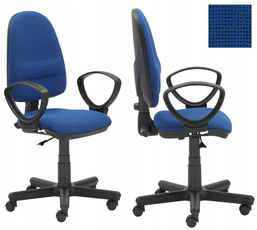 Kancelárska stolička otočná IDEÁLNY modro-čierna NS
