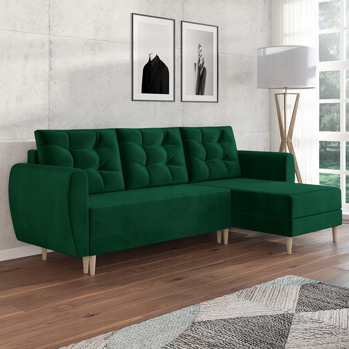 PALERMO Скандинавский угловой диван с функцией сна