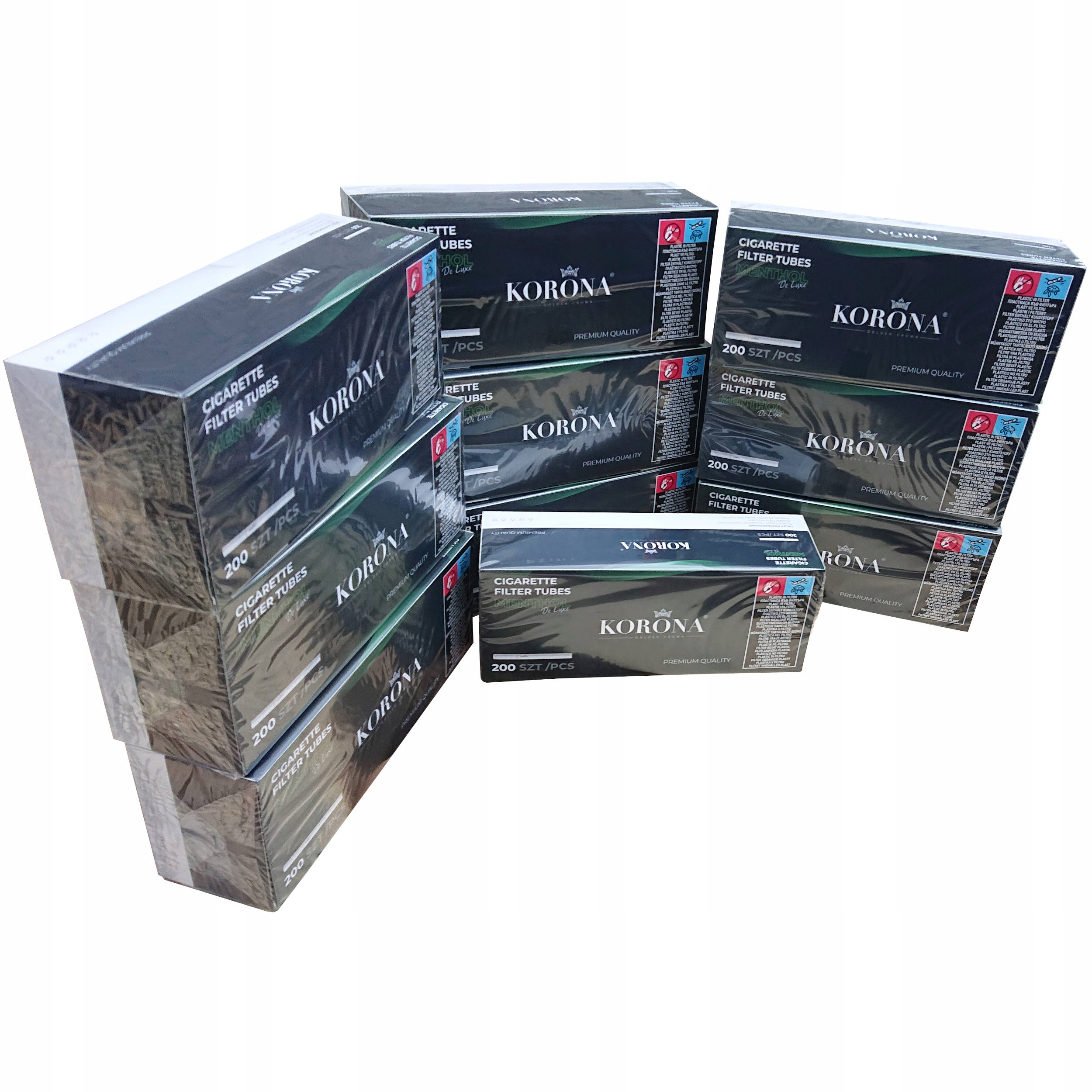 10 x Наперсток для сигарет Crown Menthol Mint 200