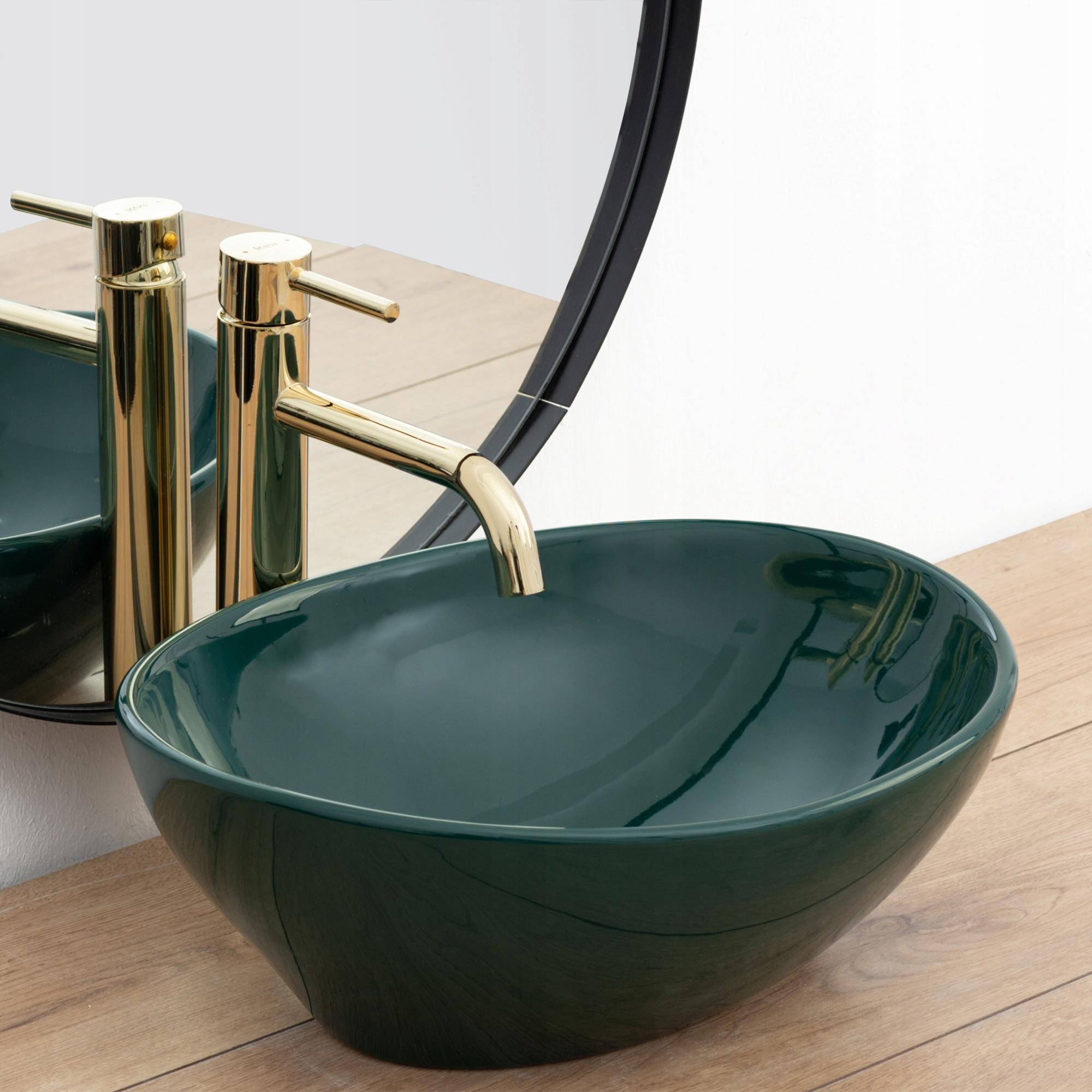 ЗЕЛЕНИЙ Овальний умивальник для стільниці REA SOFIA GREEN Зелений колір