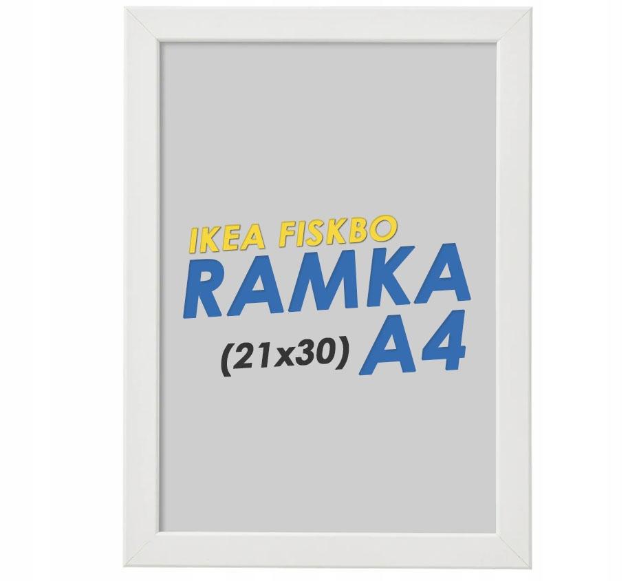 IKEA FISKBO Ramka na zdjęcia 21x30 Ramki BIAŁA A4