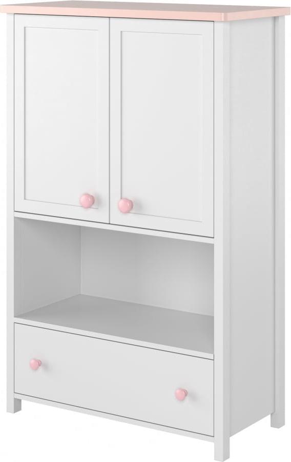 Комод белая Шкаф для девочки Стеллаж Luna
