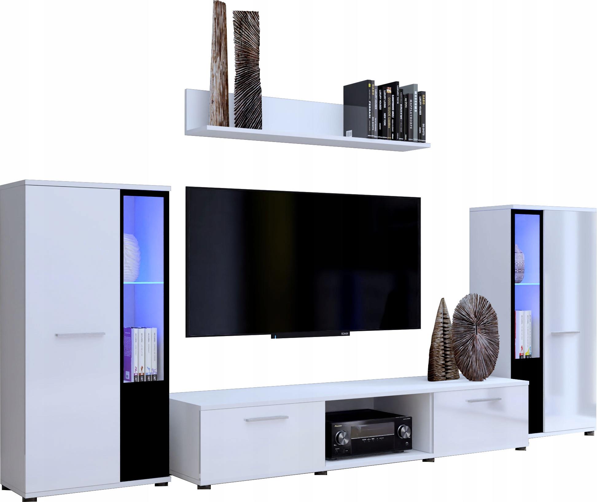 Секция CUBE белая матовая мебель для гостиной