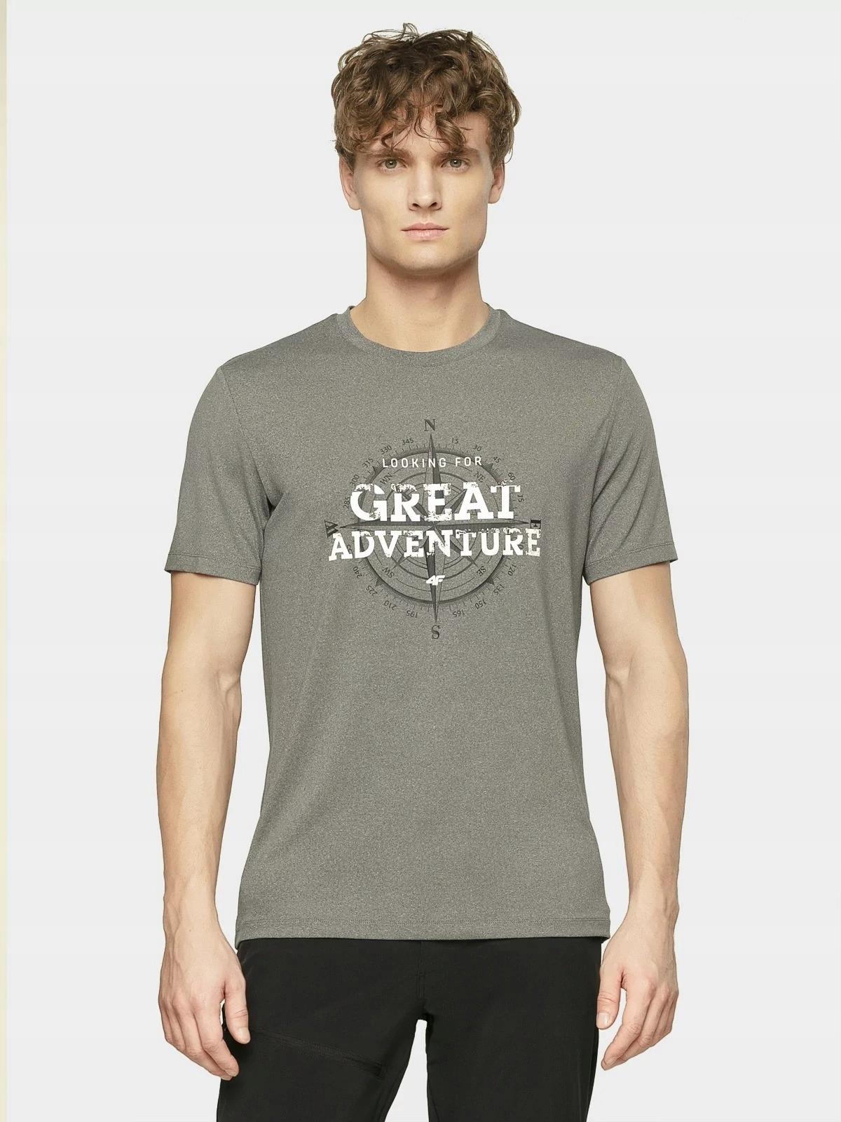 Koszulka męska T-SHIRT 4F termoaktywna TSMF061 L 9453030202 qiCtx4Dp