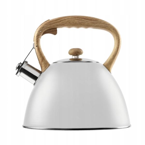 Чайник из нержавеющей стали Galicja Verdi белый 2.8 л