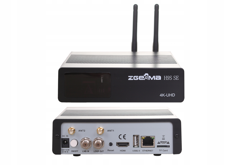 ZGEMMA H9S SE 4K ENIGMA2 Cccam Iptv Oscam+ Android Marka Zgemma