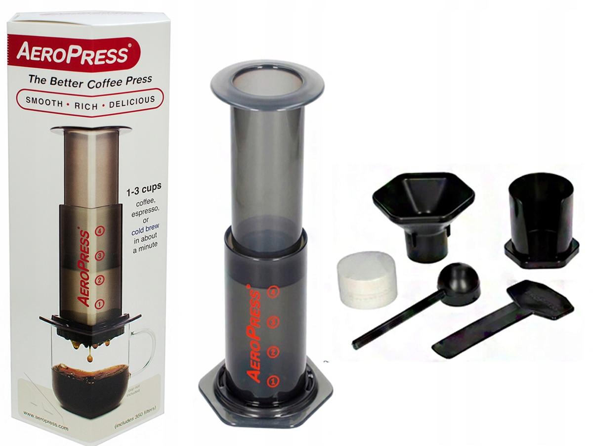 Aeropress AEROBIE - zaparzacz do kawy z filtrami Możliwość używania na indukcji nie