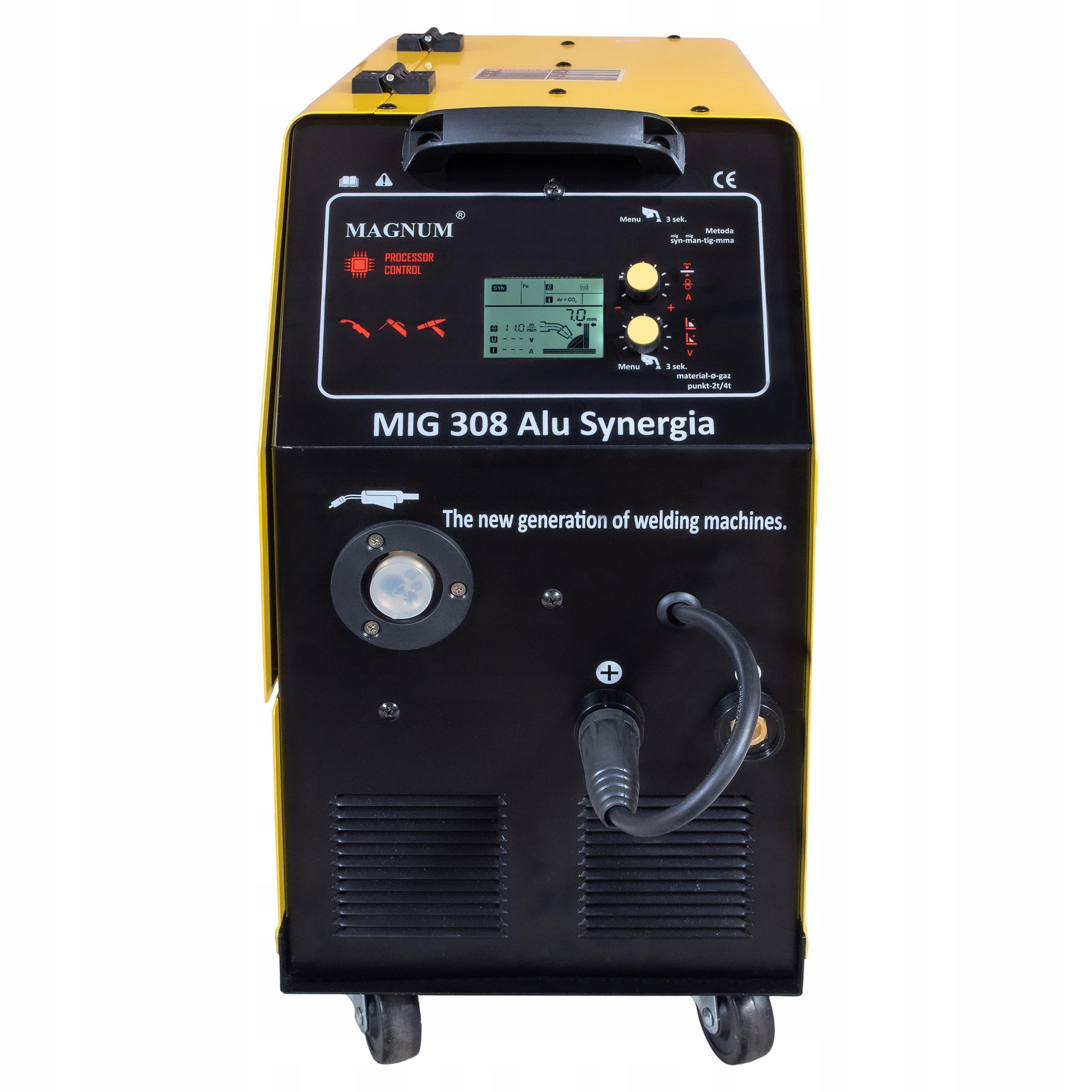 SPAWARKA MIGOMAT MAGNUM MIG 308 ALU SYNERGIA 400V Metody spawania MIG/MAG MMA TIG