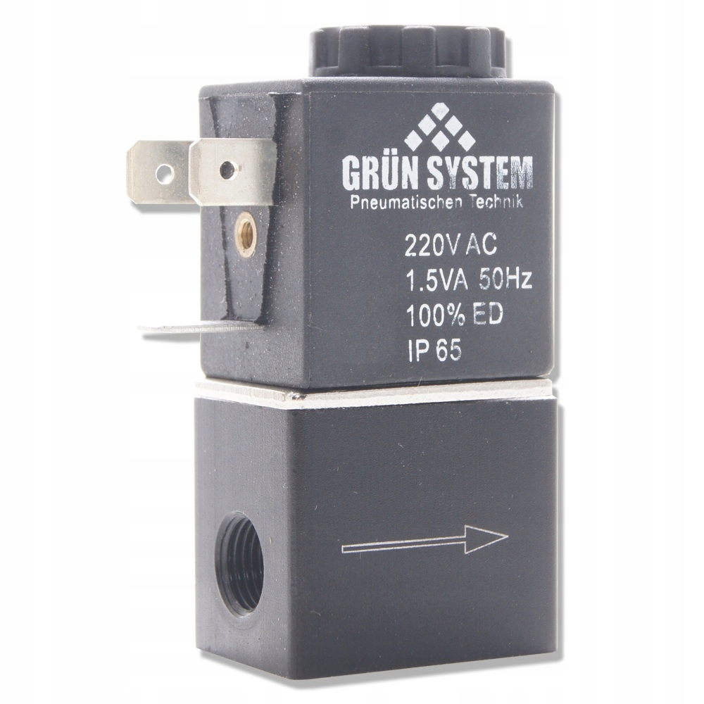 GRUN SYSTÉM elektromagnetický ventil 220V kábel 1,5 V