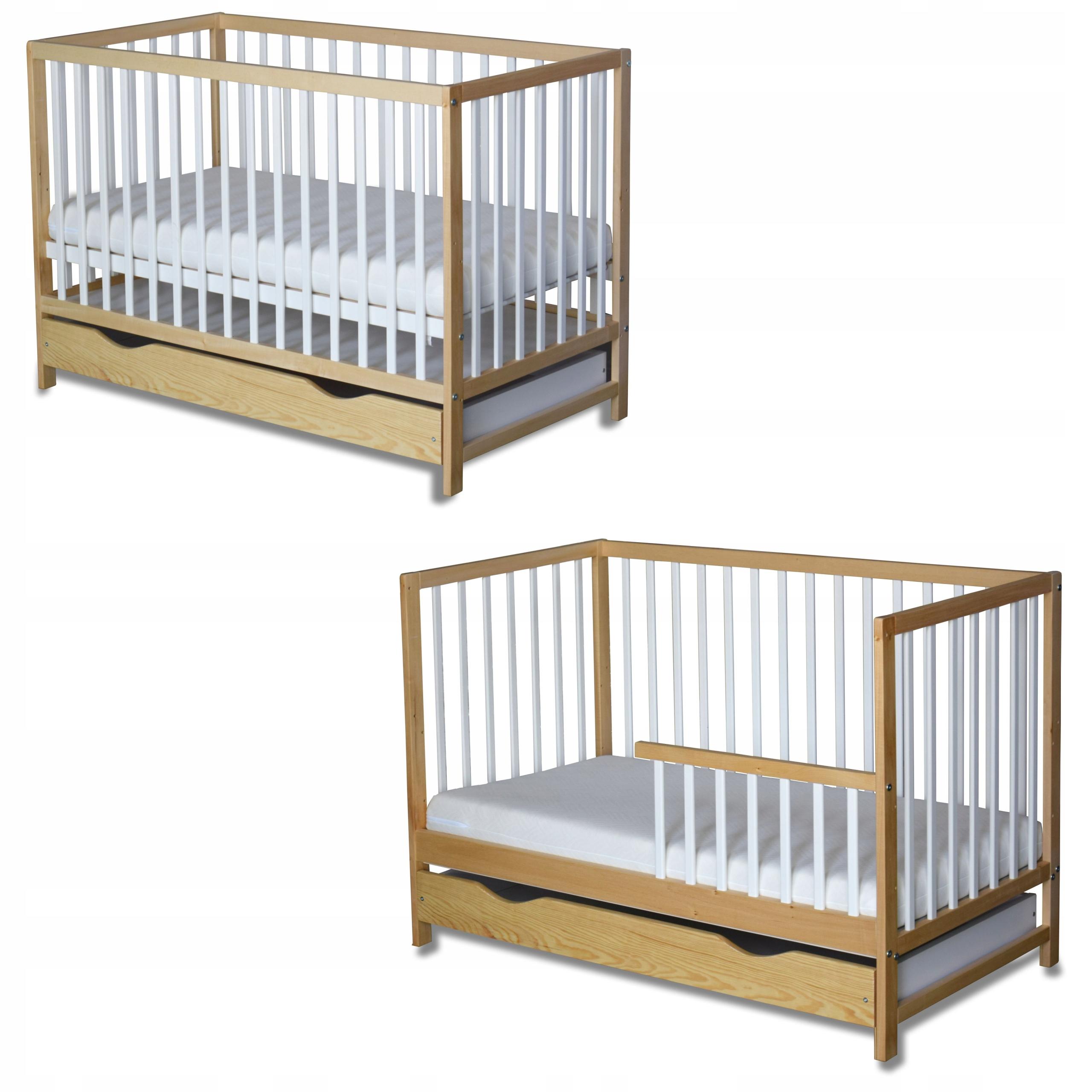 Скандинавская детская кроватка ANIA + Barrier + Drawer