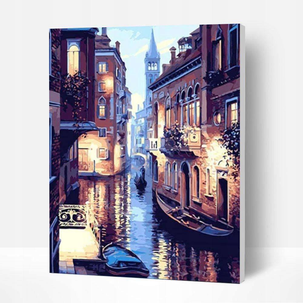 Obraz do MALOWANIA PO NUMERACH-Nocny widok Wenecji