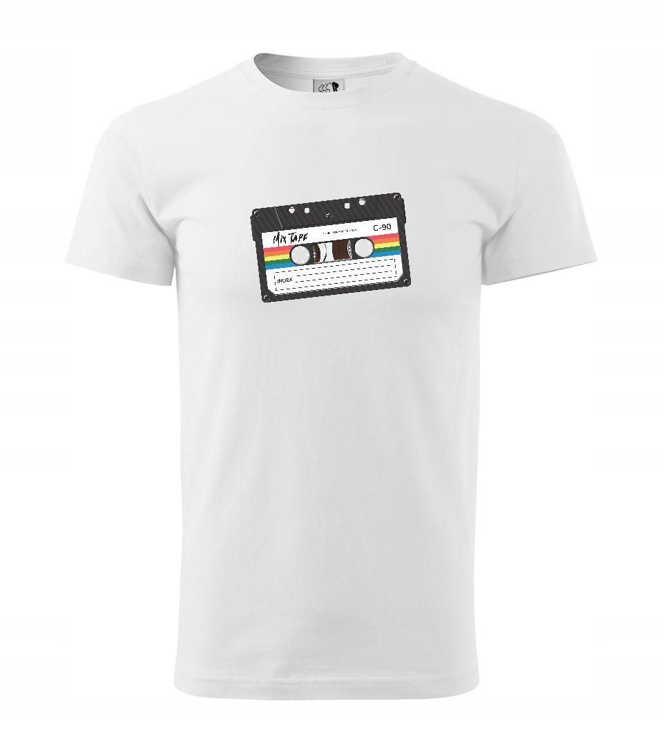 Pánske prémiové tričko s potlačou KASETA RETRO