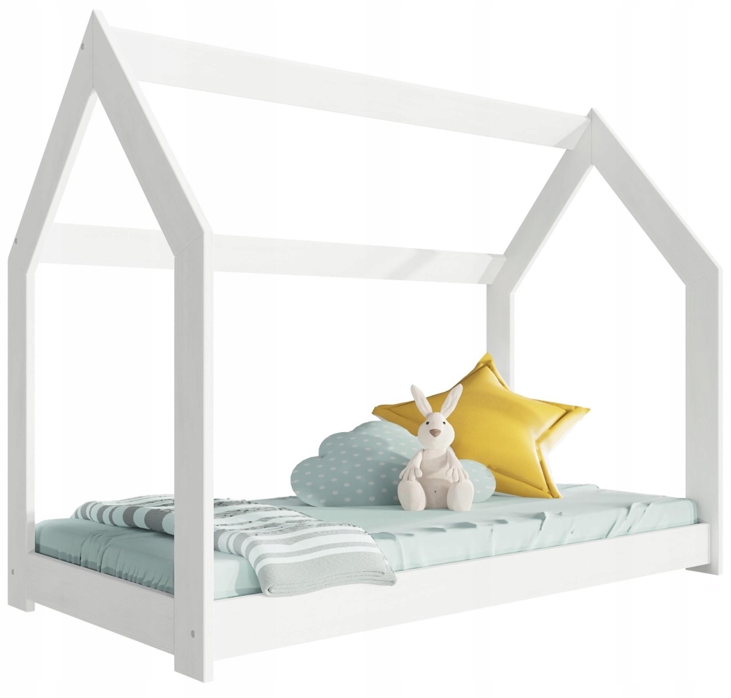 Łóżko dziecięce HOMKI LOW białe domek ze stelażem