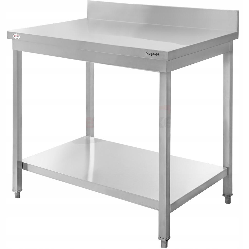 Рабочий стол из нержавеющей стали 80x60