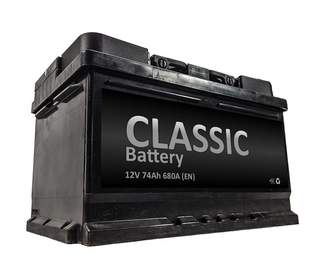 аккумулятор автомобильный classic 12v 74ah 680a