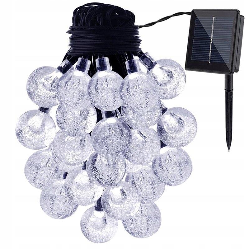 GIRLANDA Lampki ogrodowe SOLARNE 30 LED CIEPŁE