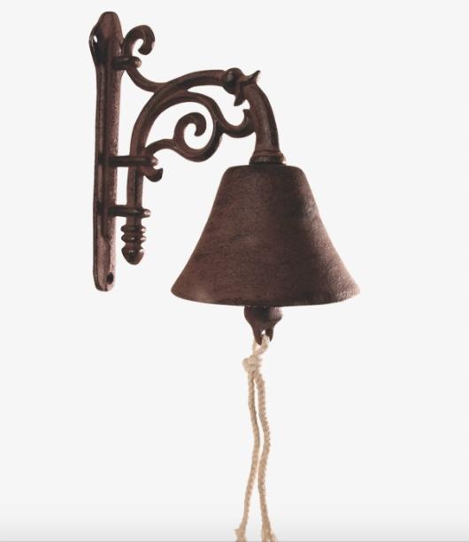 Колокольчик чугунный классический малый 19,5 см
