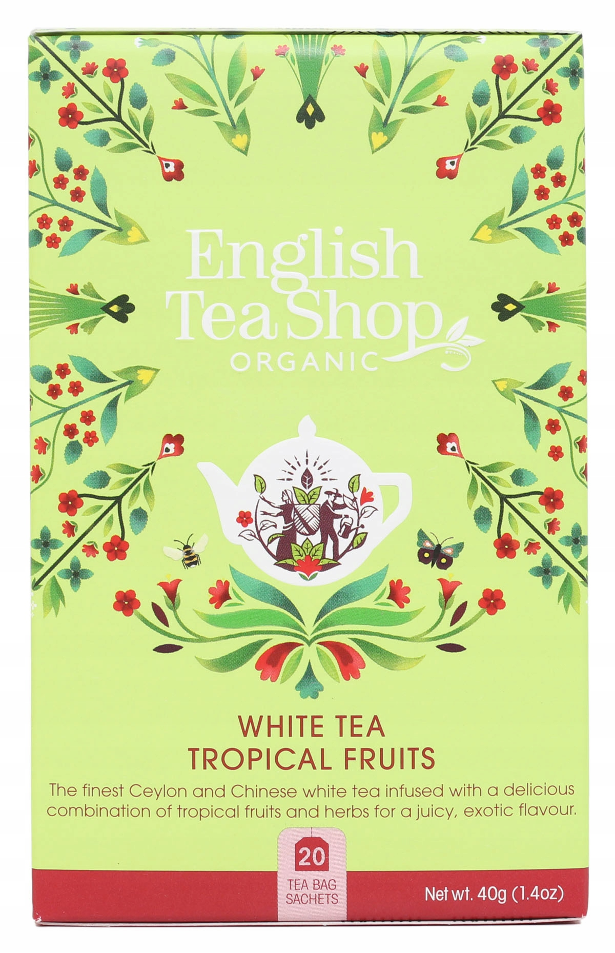 Herbata biała tropical fruits English TeaShop20x2g