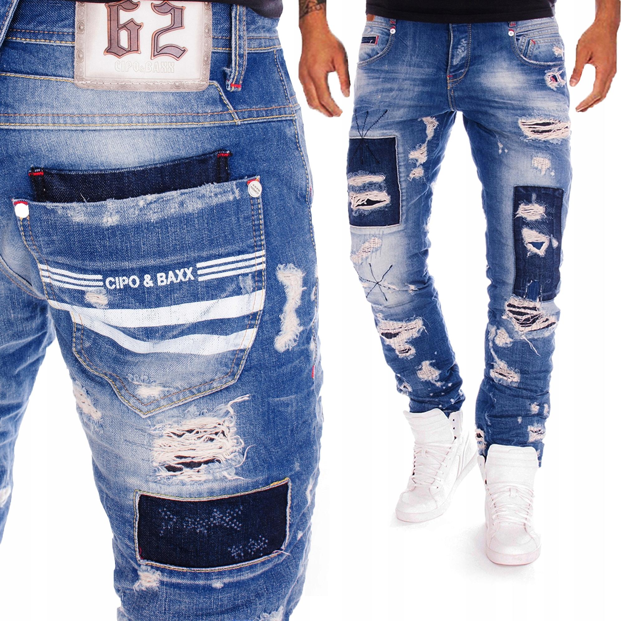 Spodnie Cipo Baxx Jeansy Męskie Street Style