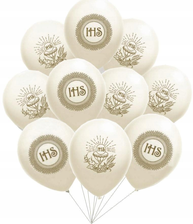 Комплект воздушных шаров причастия белые воздушные шары