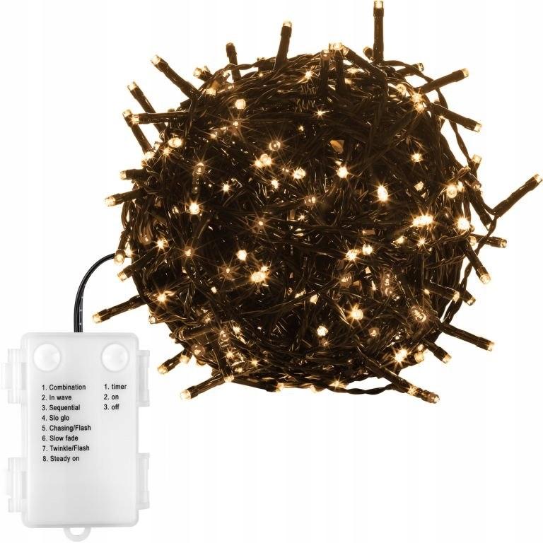 Vianočná reťaz - 10 m, 100 LED, teplá biela, n