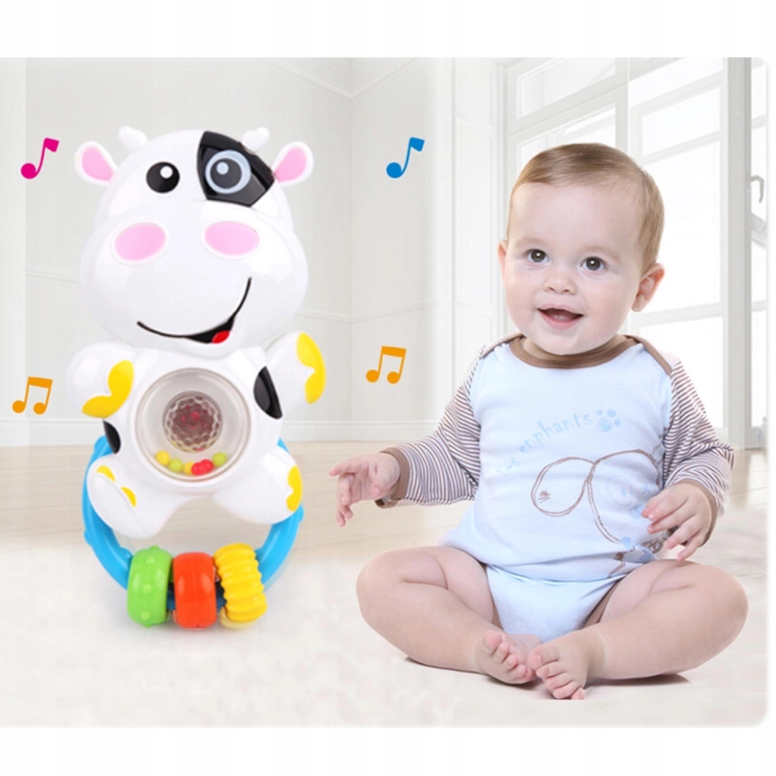 Grzechotka sensoryczna krówka melodyjki światła 81 Płeć Chłopcy Dziewczynki