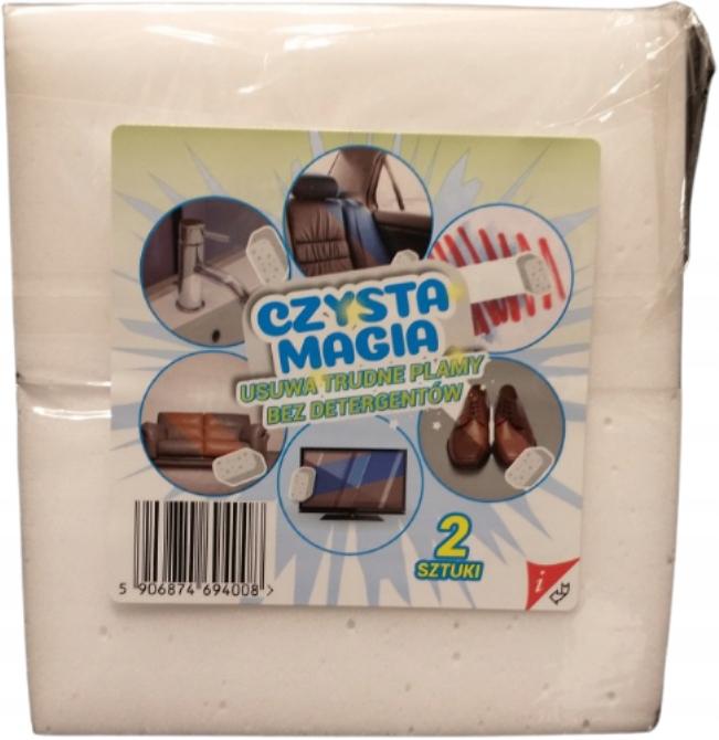 MAGIC SPONGE BIG 3 CM ОЧИСТИТЕЛЬ ПЯТНА, 2 шт. В упаковке