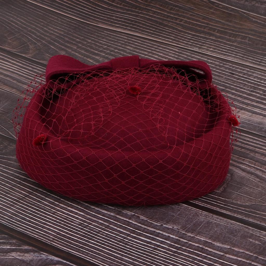 baseballová čiapka žena fascinátor - Burgundsko