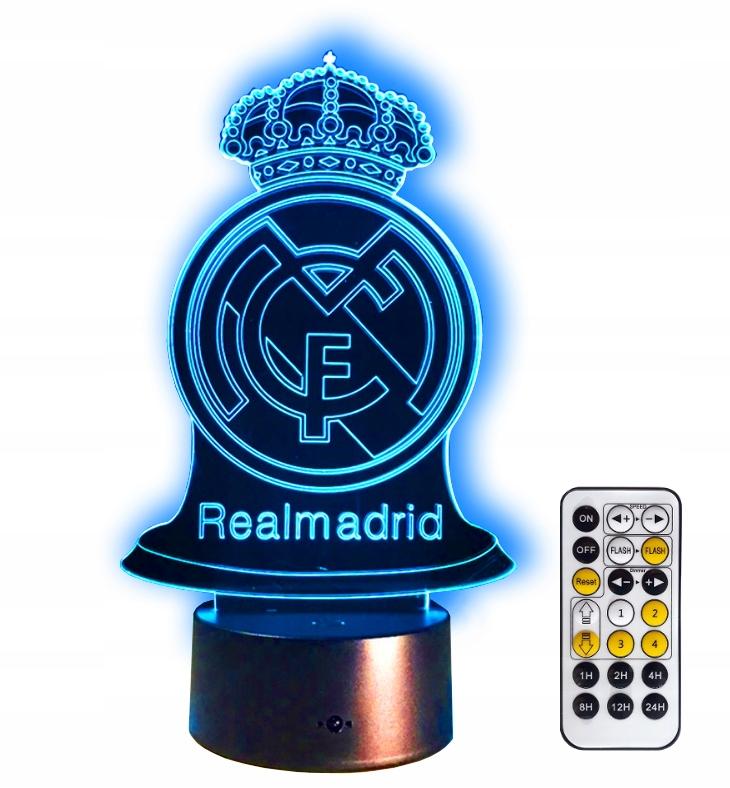 REAL MADRYT LAMPKA ночьNA 3D LED Подарок + PILOT